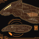 Firefly Class Transport - Starship Schematic - 36x11.75