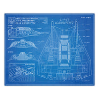 Star Wars - T-47 Airspeeder Blueprint Schematic Print - 8x10