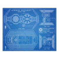 Star Wars - Tie Bomber Blueprint Schematic Print - 8x10