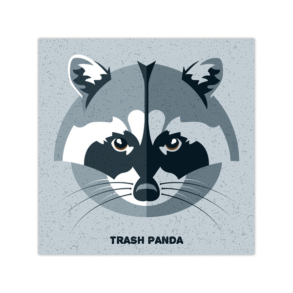 Trash Panda (Raccoon) - Graphic Icon Print - 8x8