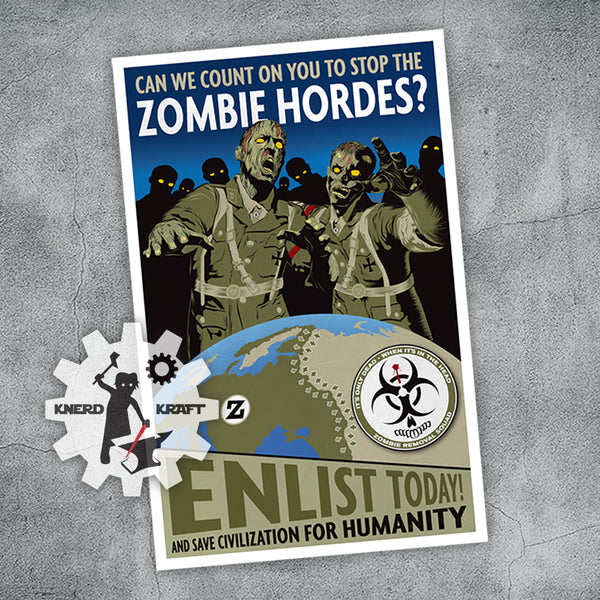 World at War - Zombie Recruitment Print - 11x17