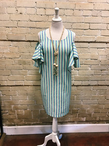 Striped Ruffled Tunic