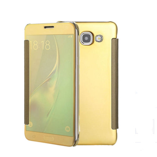 Smart Clear View Mirror Flip Case Cover For Samsung Galaxy A7 (2017) Gold