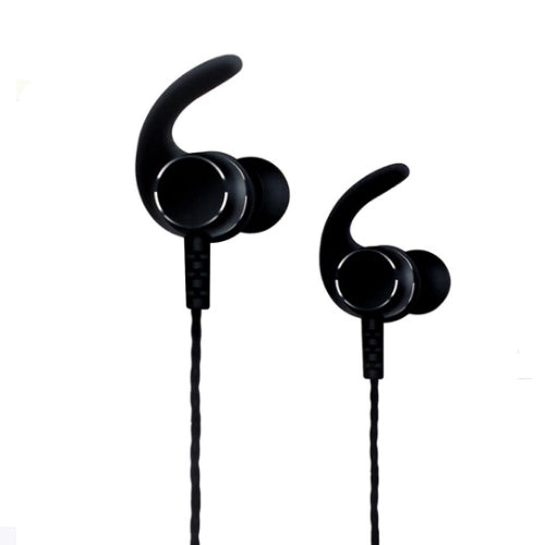 Magnetic Sport Wireless In-Ear Headset With Microphone Black