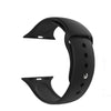 Silicone Wrist Band For Apple Watch 38-40mm Black