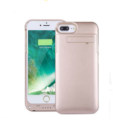 Ultra Slim Battery Charger Case With Stand 4000 mAh Rose Gold