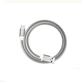 Metallic Spring Micro USB Data Sync And Charging Cable Silver 1 meter