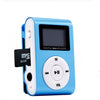 Digital LCD Clip Style MP3 Player Blue 47.48x30 x14.2 millimeter