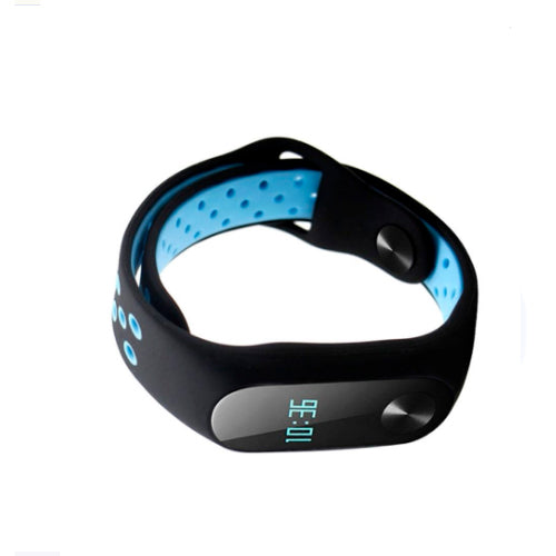 Smart Replacement Strap For Xiaomi Mi Band 2 Black/Blue