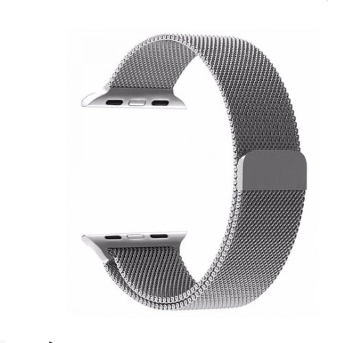 Milanese Loop Band For Apple Watch Silver 42 millimeter
