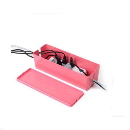 Storage Cable Management Surge Protector Pink