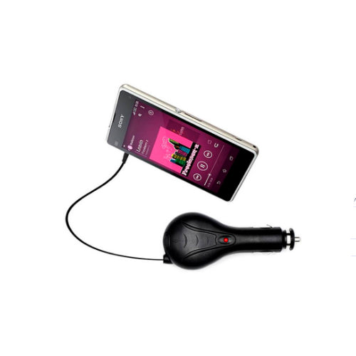 Fast Car Charger For Sony Xperia J1 Black
