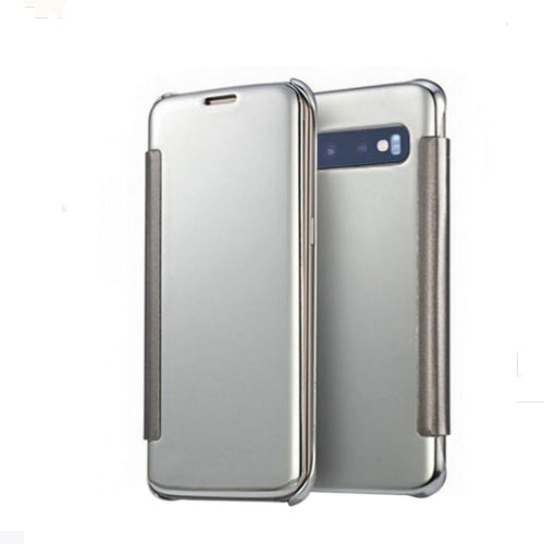Mirror Flip Case Cover For Samsung Galaxy S10 Plus Silver