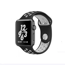 Replacement Band For Apple Watch Series 1/Series 2/Sport Edition Black/White 38 millimeter