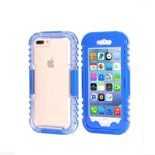 Protective Case Cover For Apple iPhone 7 Plus Blue/Clear