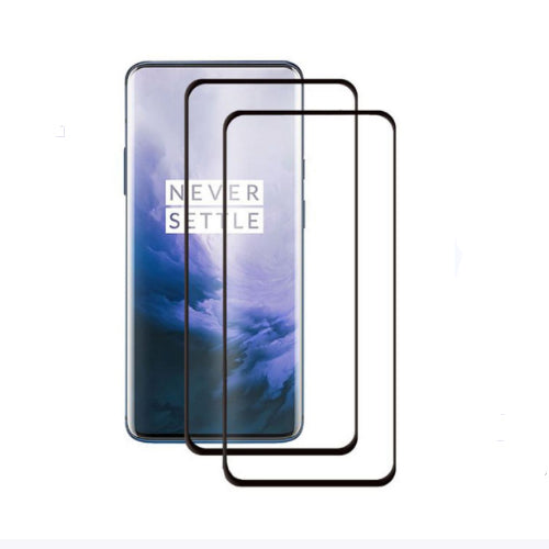 2-Piece 3D Curved Tempered Glass Screen Protector For OnePlus 7 Pro Clear