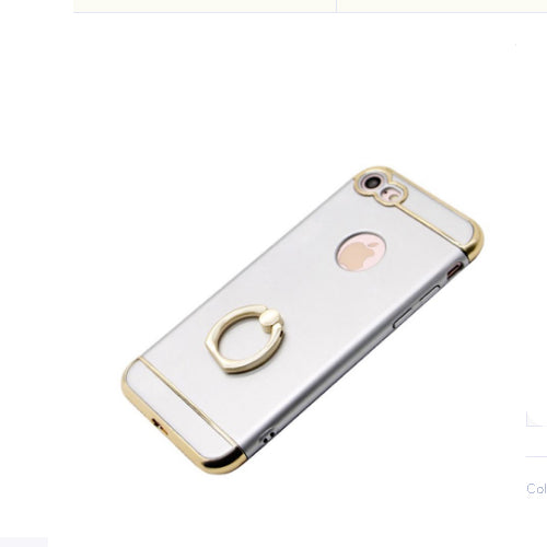 Protective Case Cover With Hand Grip Ring For Apple iPhone 7 Silver/Gold