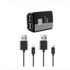 Brave Universal Wall Charger With Lightning And Micro USB Cable Black