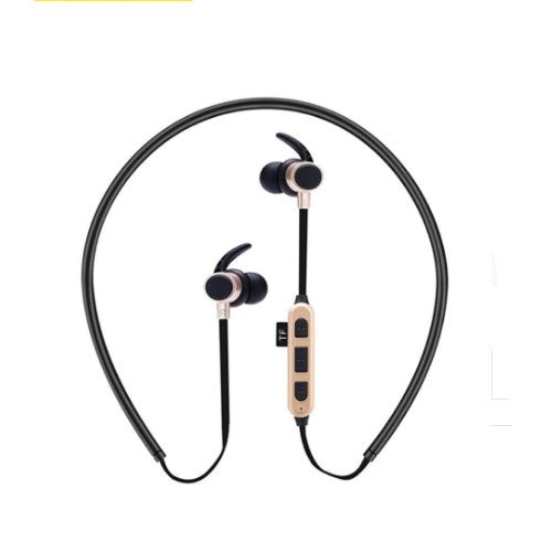 Wireless Bluetooth In-Ear Headphone With Mic And TF Card Slot Gold/Black