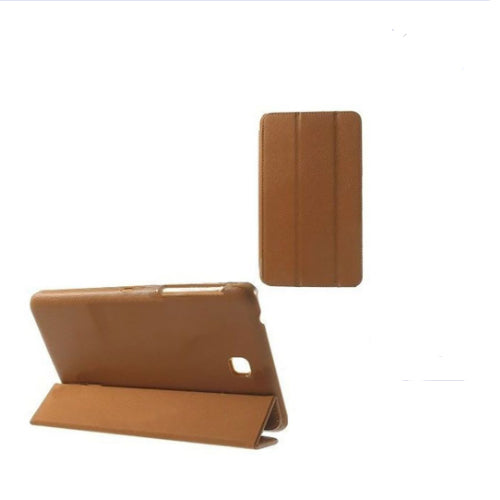 Margoun Tri-Fold Stand Smart Leather Case For Samsung Galaxy Tab 4 7.0 T231 - Brown