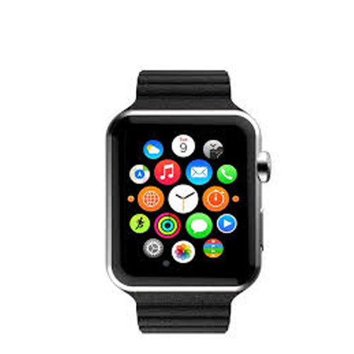 Smart Watch With Heart Rate Monitor Sensor 350 mAh Black