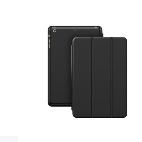 Margoun Tri-Fold For Apple Ipad Mini 4 Faux Smart Case Cover - Black