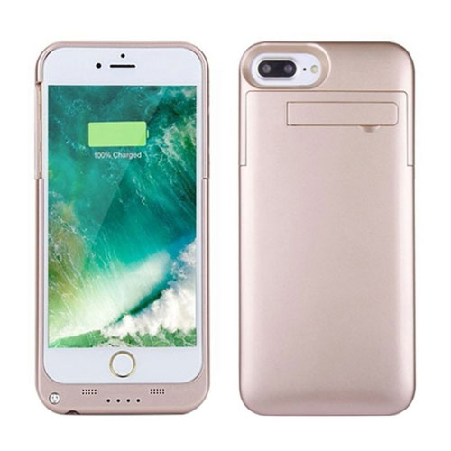 Peyou Slim Battery Case Cover With Stand For Apple iPhone 7 Plus 4000 mAh Rose Gold