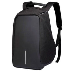 Anti-Theft Waterproof Backpack With USB Charging Port Black