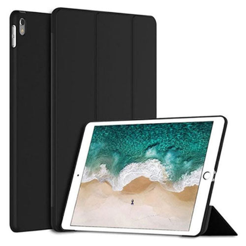 Margoun Tri-Fold For Apple Ipad Pro 12.9 Inch Pu Smart Case Cover - Black