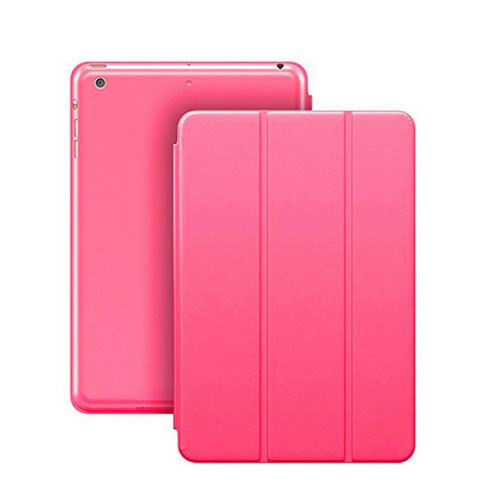 Margoun Tri-Fold For Apple Ipad Mini 4 Faux Smart Case Cover - Pink