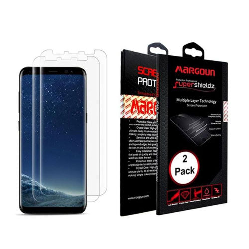 Margoun Protective Screen Protector - 2 Pack Full Cover for Samsung Galaxy S8 Plus G955F