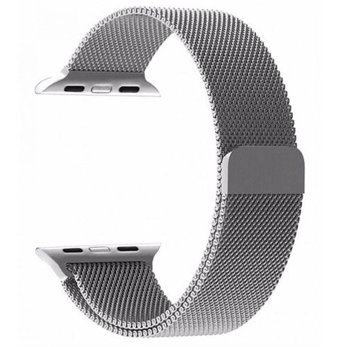 Milanese Loop Band For Apple Watch Silver 38 millimeter
