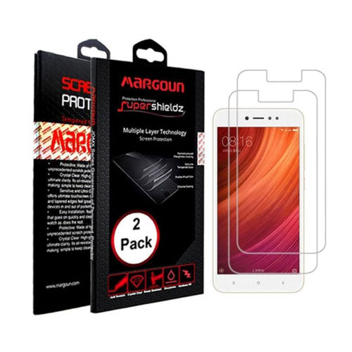 Margoun 2 Pack for Xiaomi Y1 (5.5 inch) Screen Protector, Two Pack Protective Super Shields Multiple Layer Screen Protector, 2 Powerful Shock Absorptive and Scratch Proof Screen Protector with HD Clarity