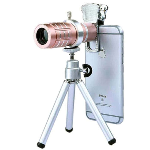 Telephoto Universal Lens With Flexible Tripod And Clip Rose Gold/Silver