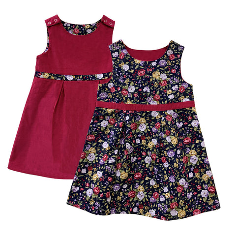 Reversible Navy Flowers Dress