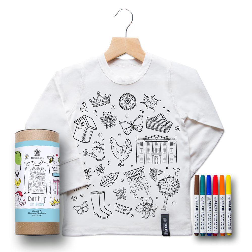 Children's colour-in top