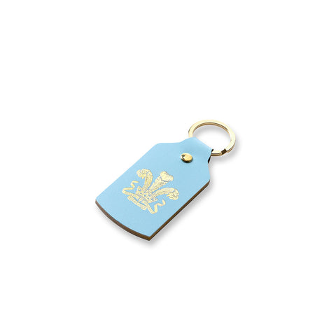 Highgrove Pale Blue Leather Keyfob