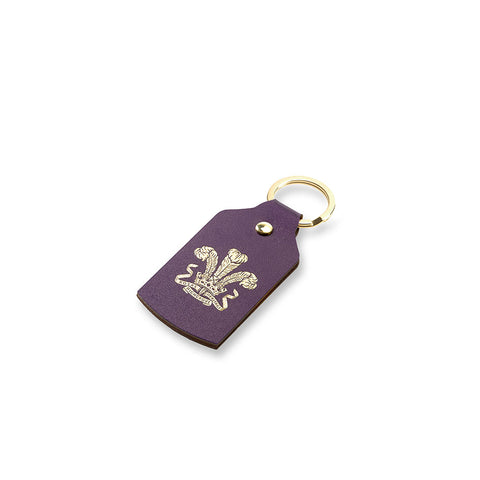 Highgrove Purple Leather Keyfob