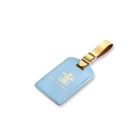 Highgrove Pale Blue Leather Luggage Tag