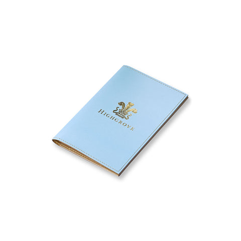 Highgrove Pale Blue Leather Passport Holder