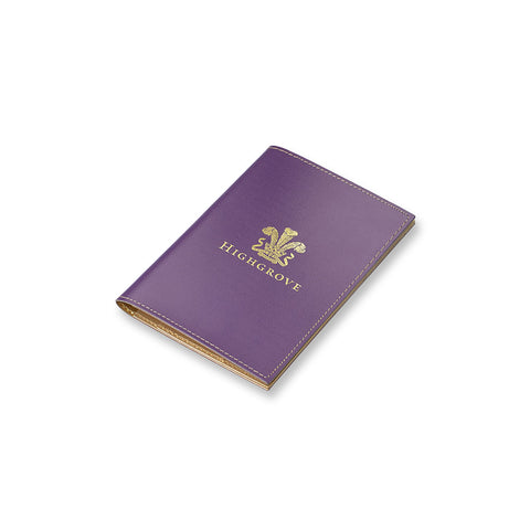 Highgrove Purple Leather Passport Cover