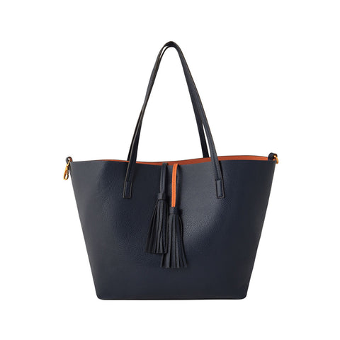 Navy Tote Bag – Two Bags in One