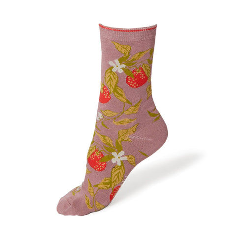 Women's Pink Frutta Socks