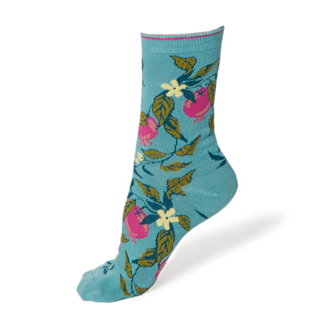 Women's Green Frutta Socks