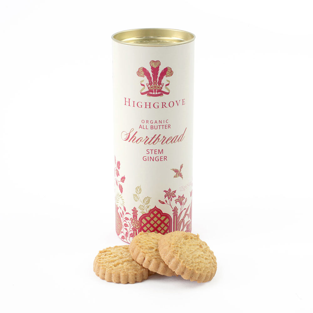 Highgrove Organic Stem Ginger Shortbread