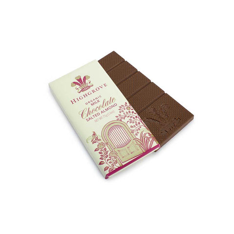 Highgrove Organic Salted Almond Chocolate Bar