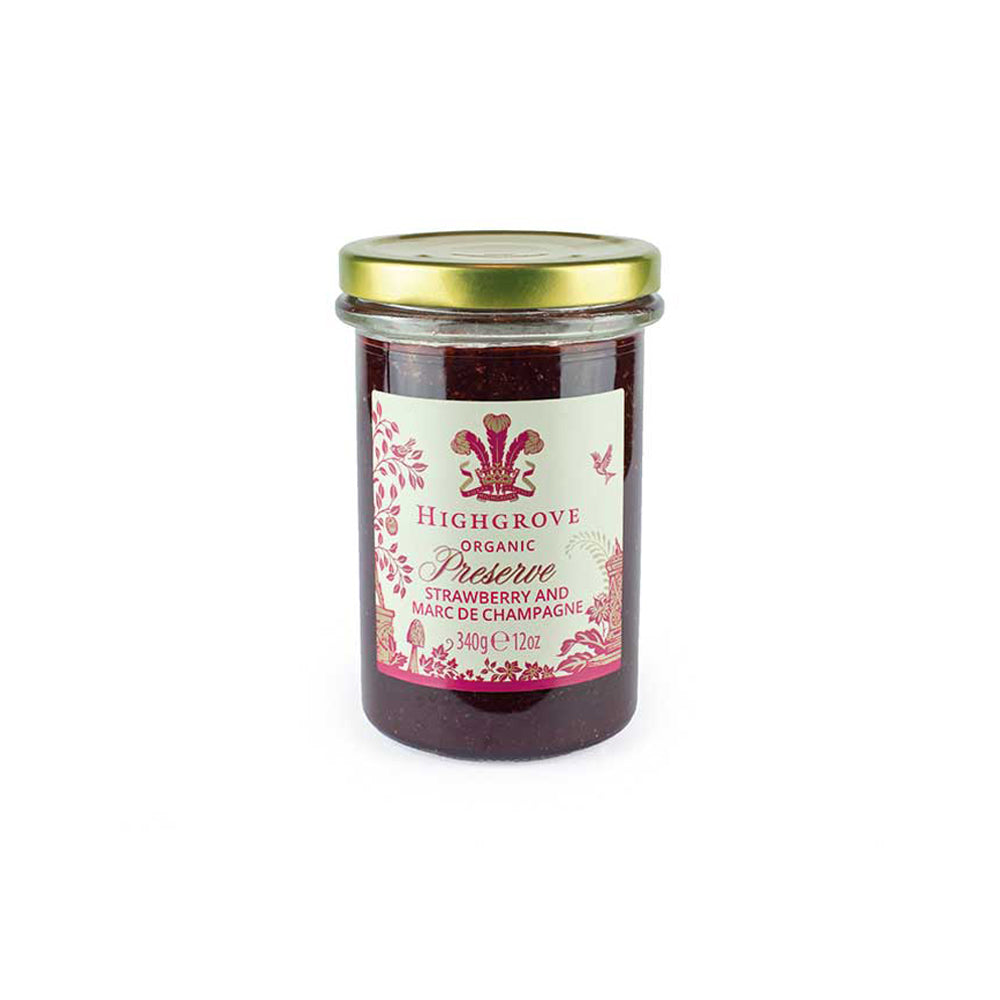 Highgrove Organic Strawberry Preserve with Marc de Champagne