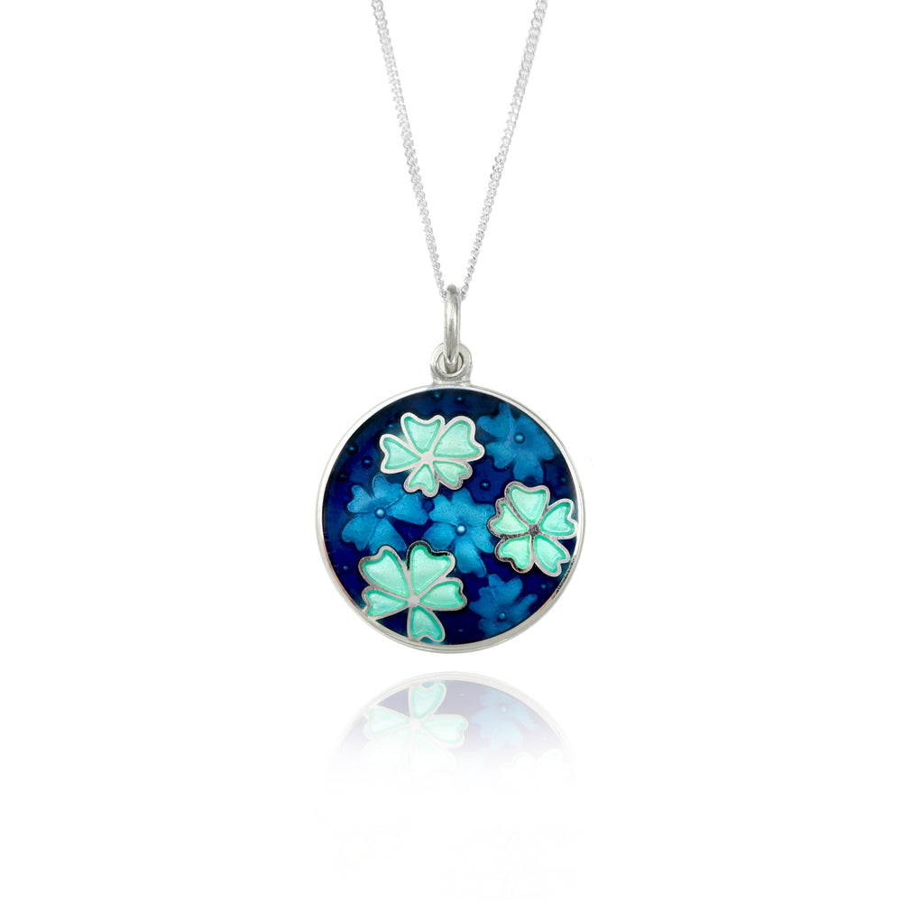 Blue Forget-Me-Not Pendant