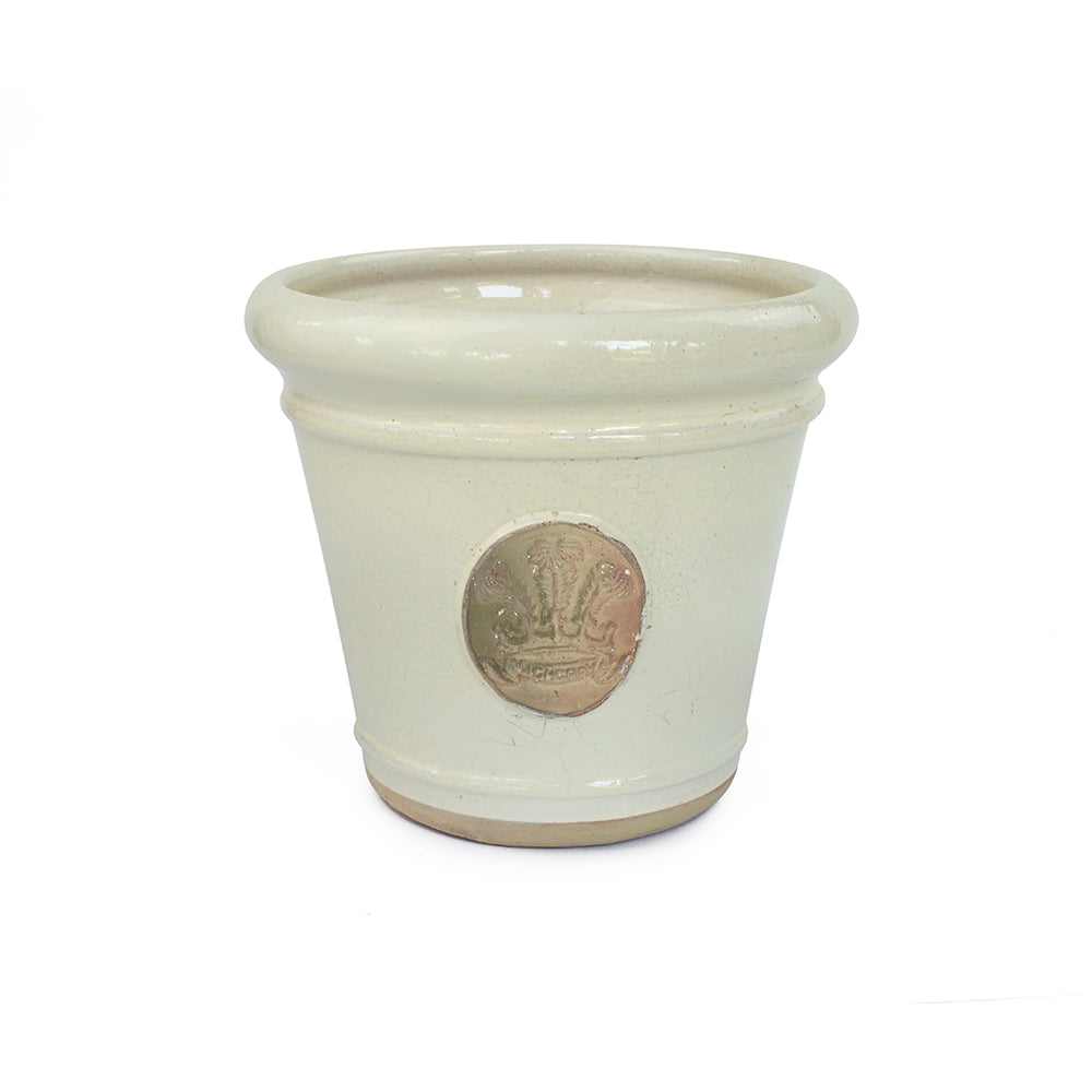 Highgrove Feathers Ivory Tapered Plant Pot