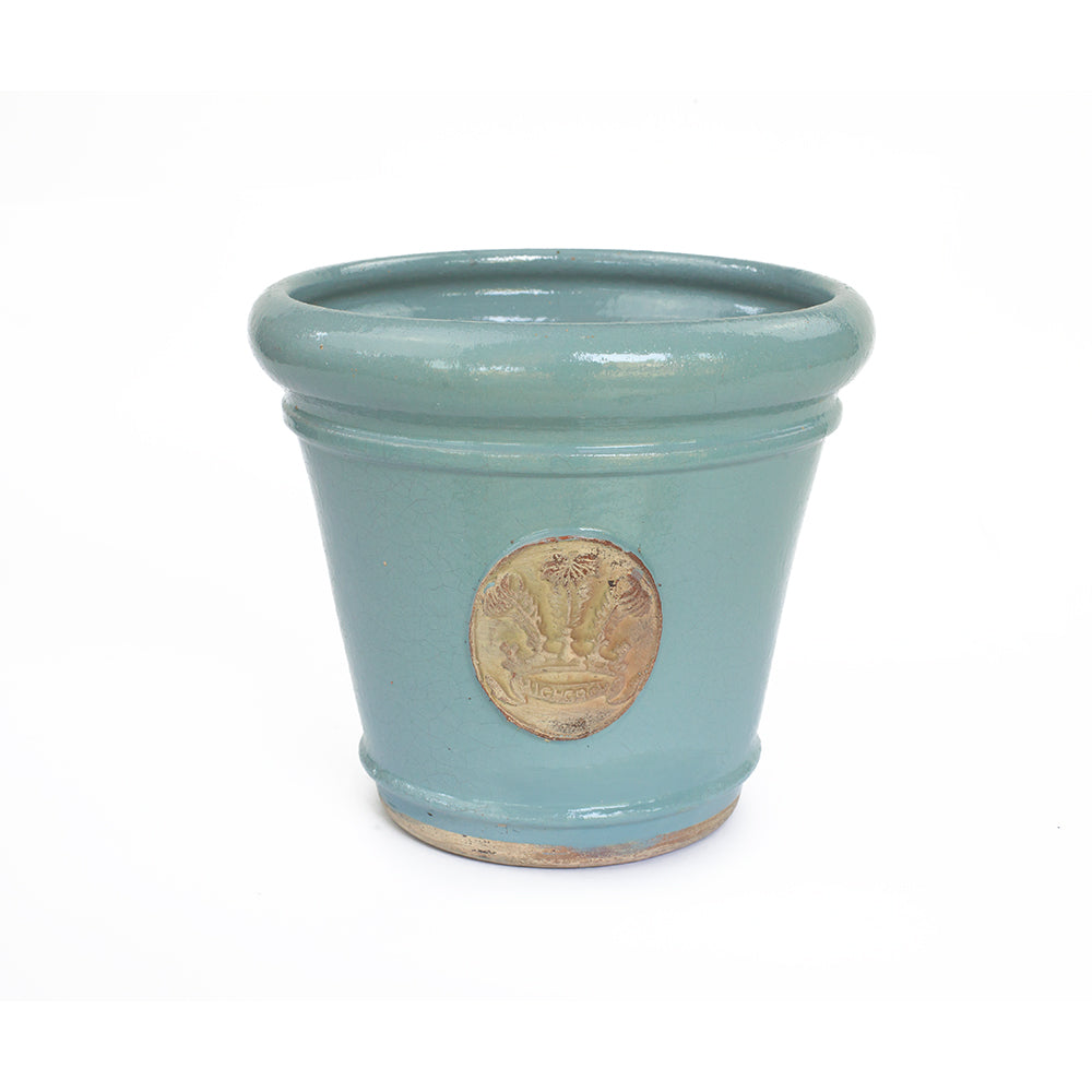 Highgrove Feathers Blue Tapered Plant Pot